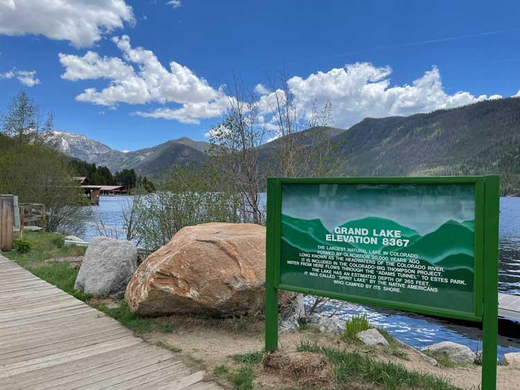 A beautiful summer day at Grand Lake