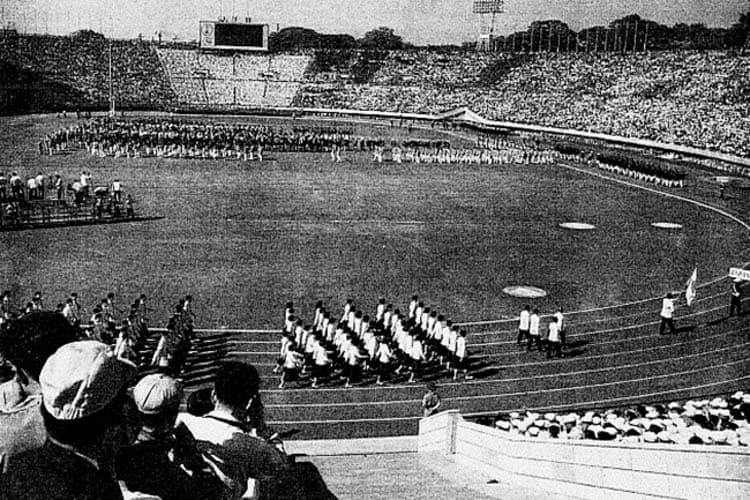 Tokyo Olympic Stadium in 1958