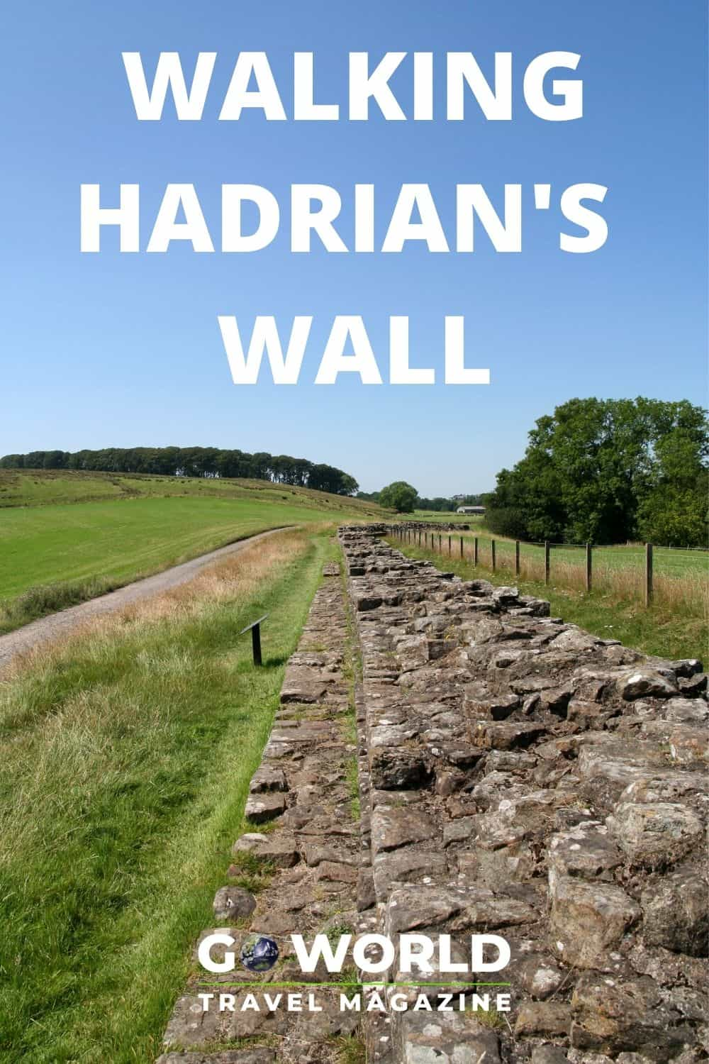 Walking Hadrian's Wall Trail is a scenic and historic journey. But, did you know you can walk it without flying to England? Here's how. #HadriansWall #WalkingHadriansWall #WalksinEngland #UKWalks