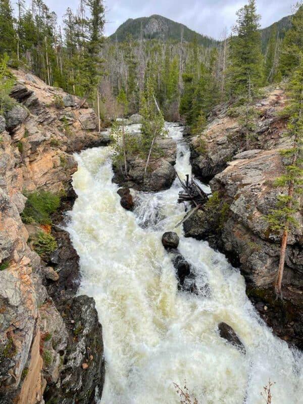 Hiking to Adam Falls near Grand Lake, Colorado