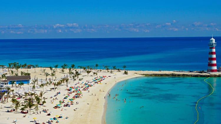 Enjoy the beach in the Bahamas