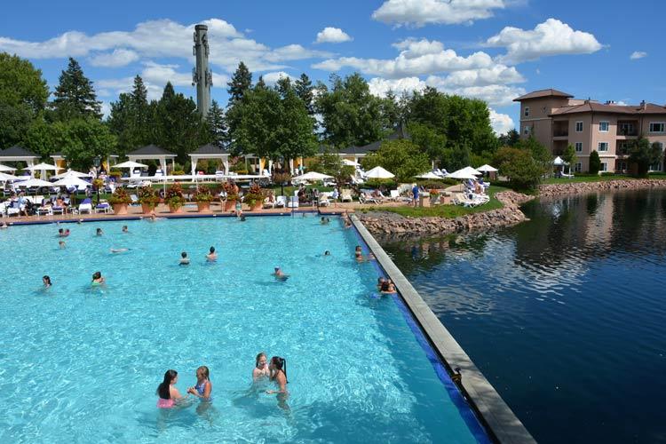 Broadmoor pool and pond