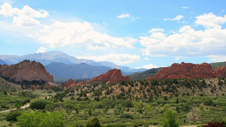Red rock formations around Colorado Springs