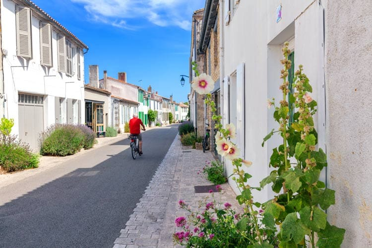 Town streets in Ile De Re, France
