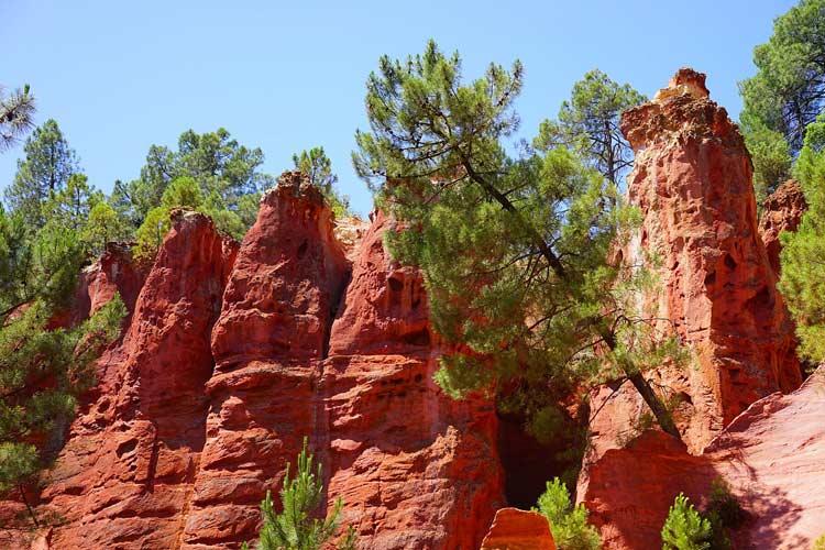 Ocher red rocks