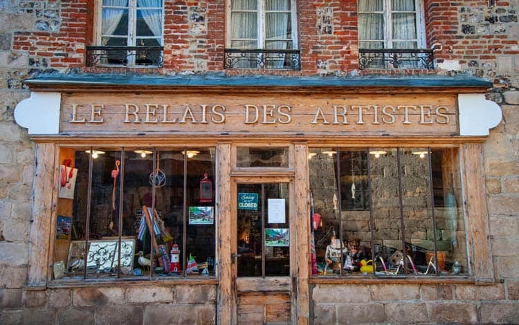 Local shops in small French villages