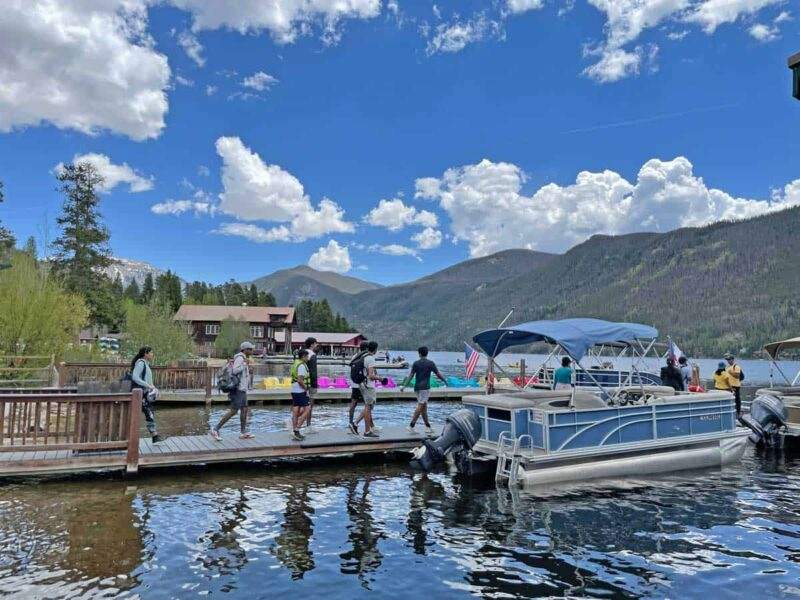Take a boat tour at Headwaters Marina in Grand Lake, Colorado. Photo by Janna Graber