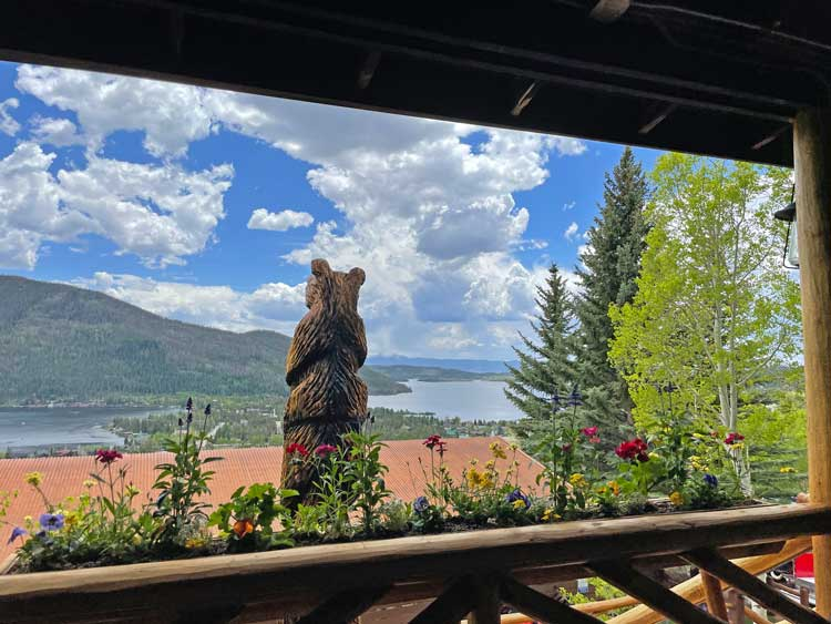 View from the porch of Grand Lake Lodge