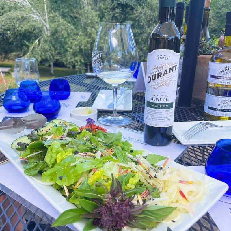 Olive Oil and Wine Tasting at Durant at Red Ridge Farms in Oregon
