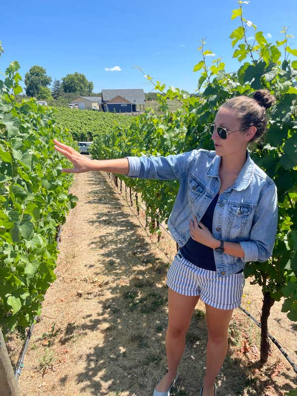 Elizabeth Clark of Adelsheim Vineyards explain how the unique soil and elevation of the Chehalem Mountains affect the grapes.