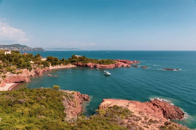 French Riviera Beaches Saint Raphael Coastline