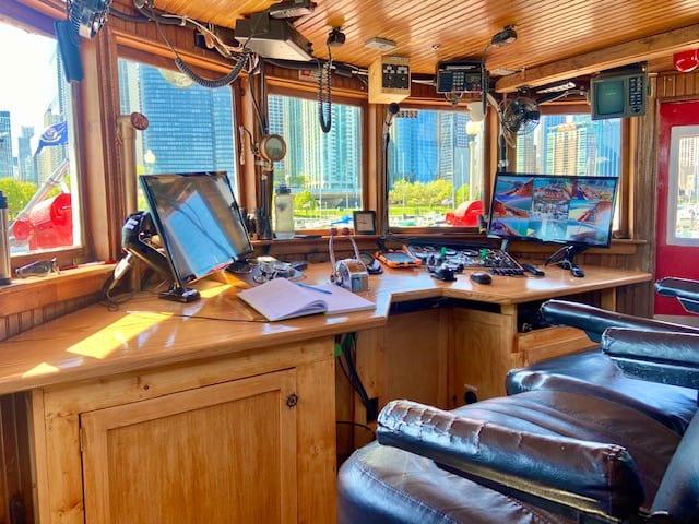 pilot house Chicago Fireboat