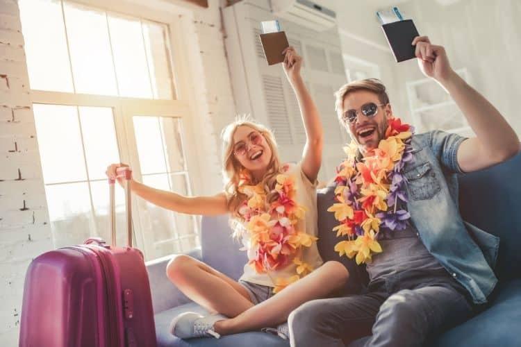 Couple celebrating Independent Travel