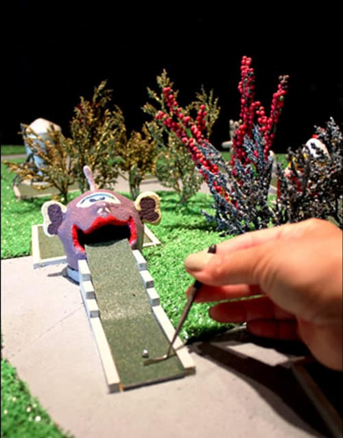 A mini-miniature golf course in Lucas, Kansas is kitsch personified. Photo by World's Largest Collection, Inc.