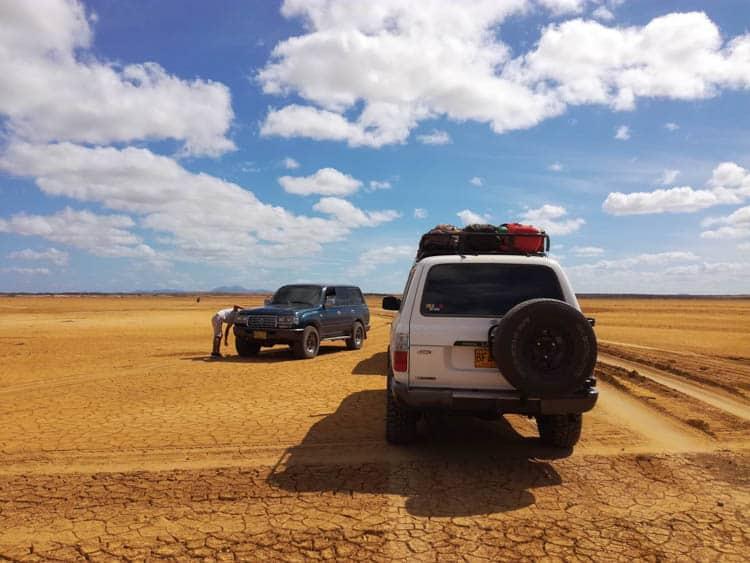The desert tracks on the way to Punta Gallinas.