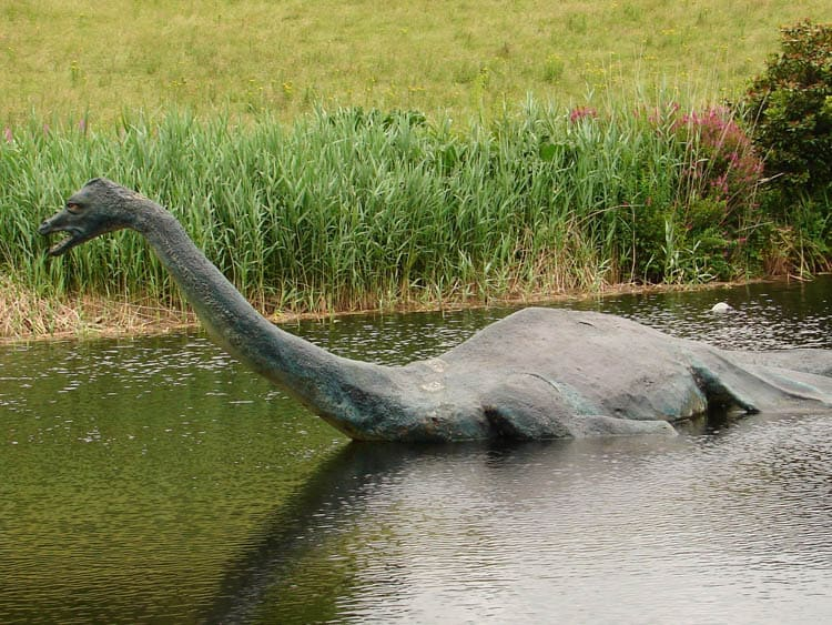 Nessie as displayed at the Loch Ness Exhibition Centre