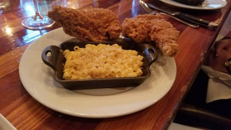 Fried chicken at Table and Main