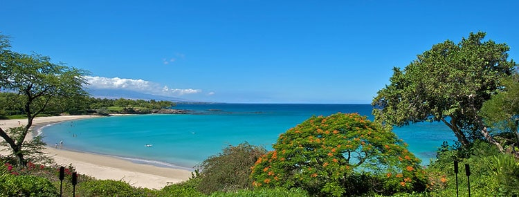 Beach view from Kauai resort