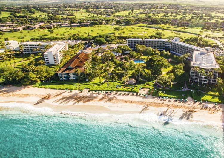Overlooking the Ka'anapali Beach Hotel
