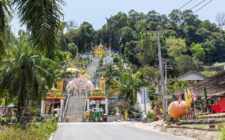 Up to shrine in Krabi