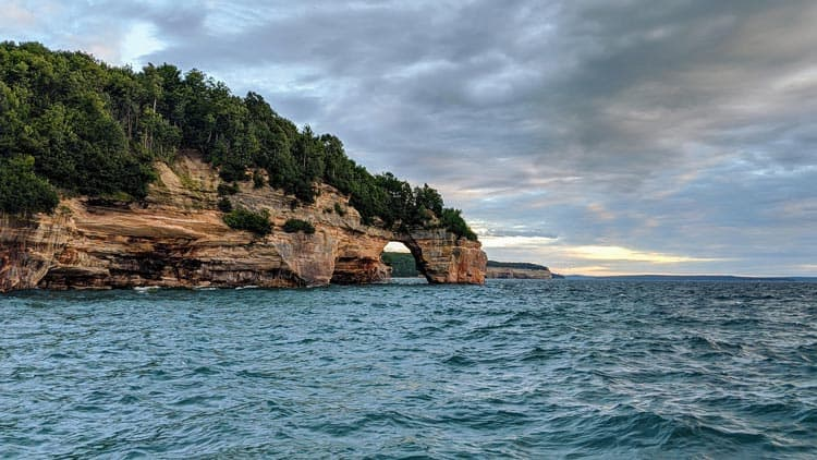 View of Pictured Rocks