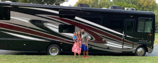 The Adventurtunity Family and their new RV.
