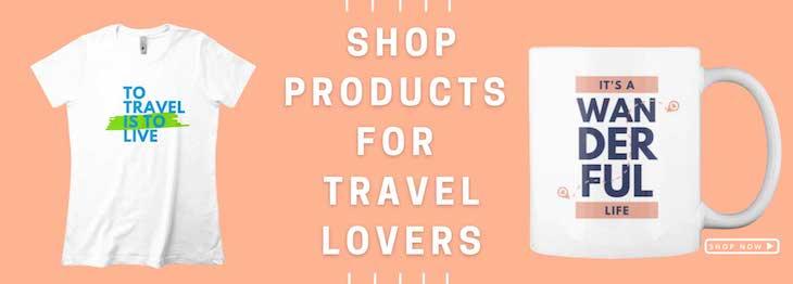 Go World Travel Shop Banner for Travel Lovers
