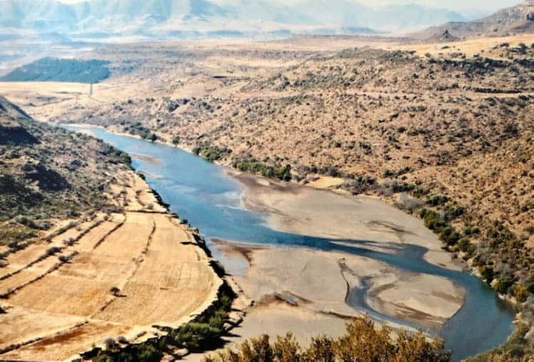 African Adventure African road trip Looking over the Korokoro River a few hours' drive out of Maseru