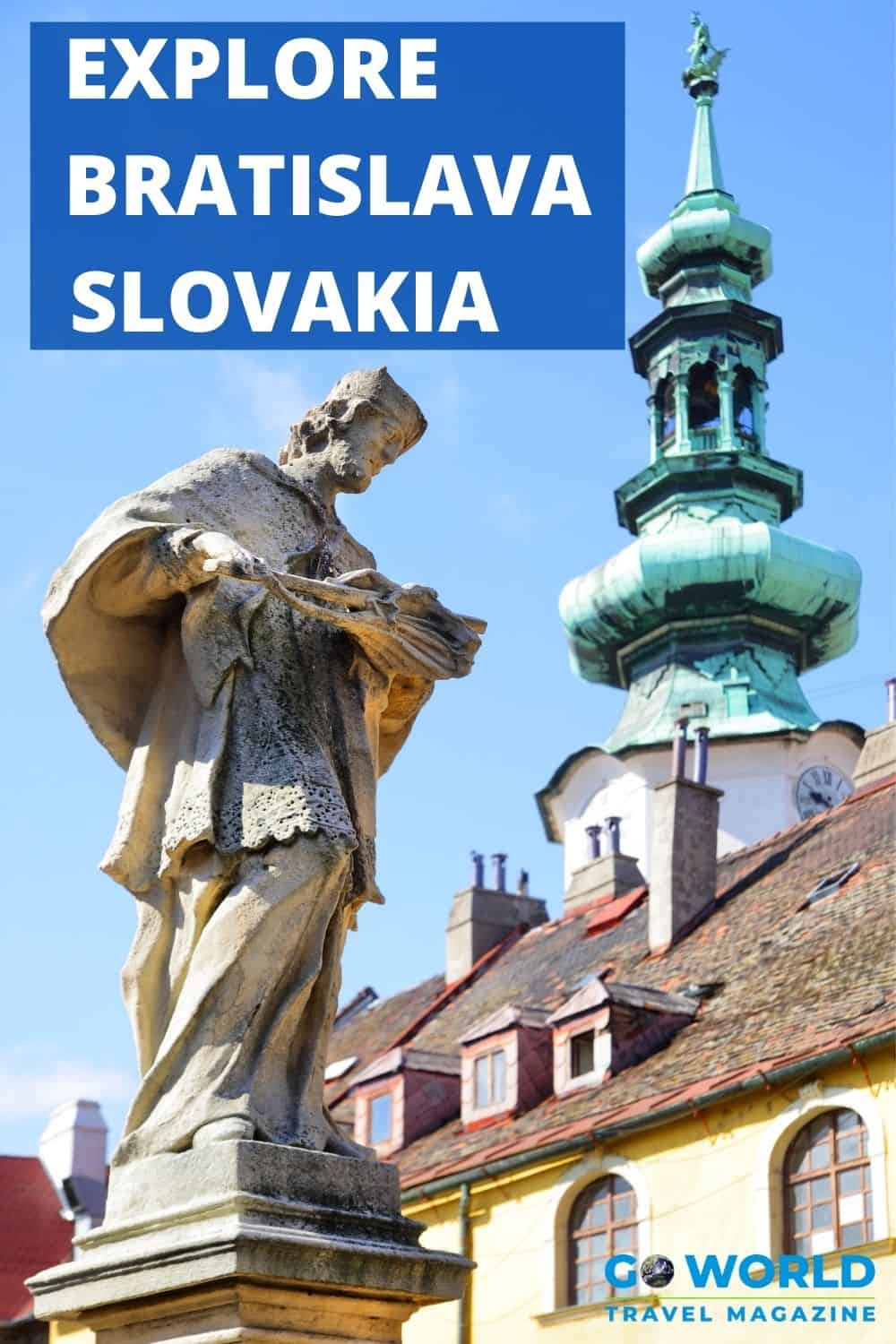 Want to know what to do in Bratislava, Slovakia? Follow as we explore the city full of historic sites, beautiful palaces, castles & squares. #Travelslovakia #bratislavaslovakia