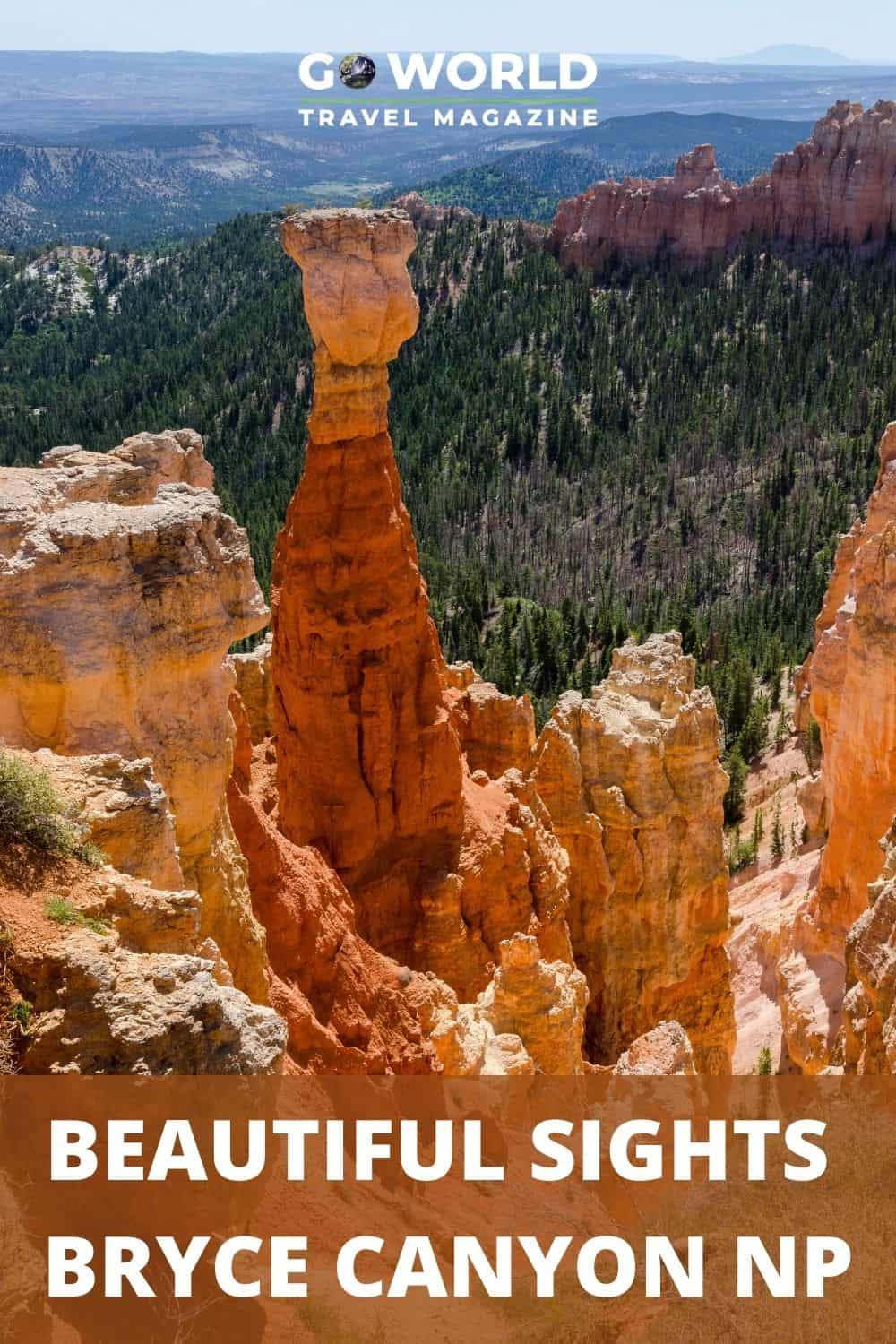 One day in Bryce Canyon National Park isn't enough to see everything. But if you follow this route you'll be sure to see the top park sights. #nationalparksusa #brycecanyonnp #brycecanyonutah