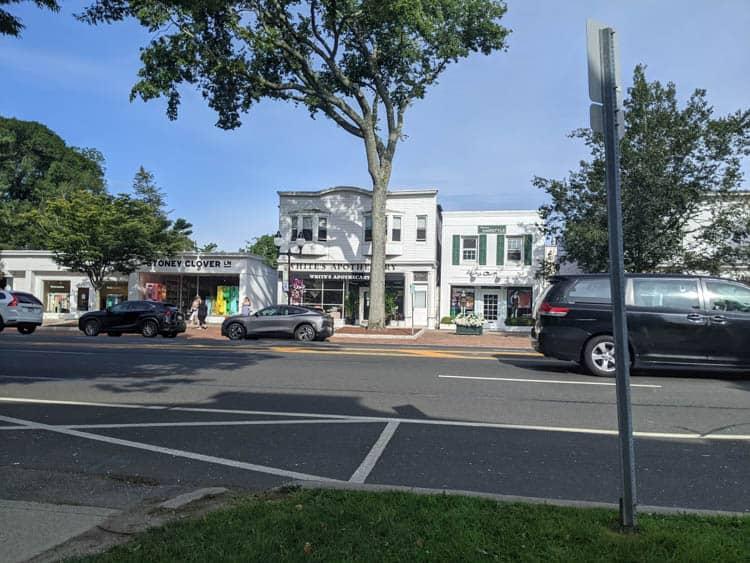 Downtown East Hampton.