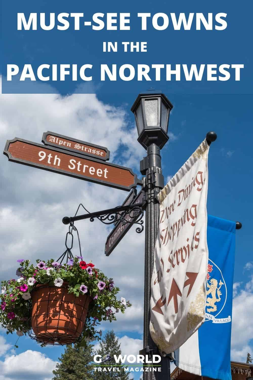 Here are six charming towns to visit and/or spend the night on a Pacific Northwest road trip through beautiful Washington and Oregon. #PNW #pacificnorthwestroadtrip