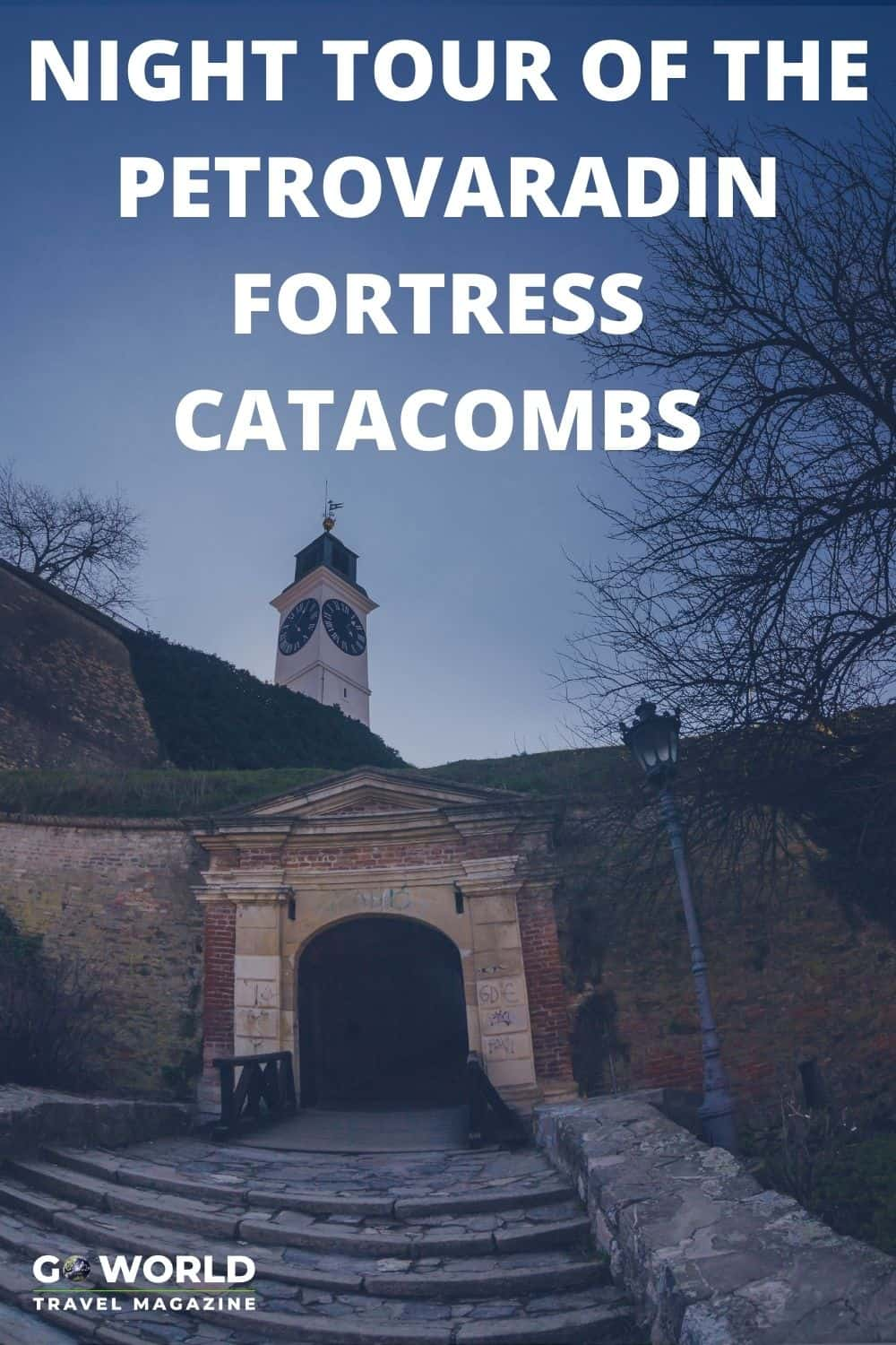 Visit the Petrovaradin Fortress in Serbia at night with a guided tour of the creepy catacombs complete with ghost stories and spooky legends. #travelserbia #petrovaradinfortressserbia