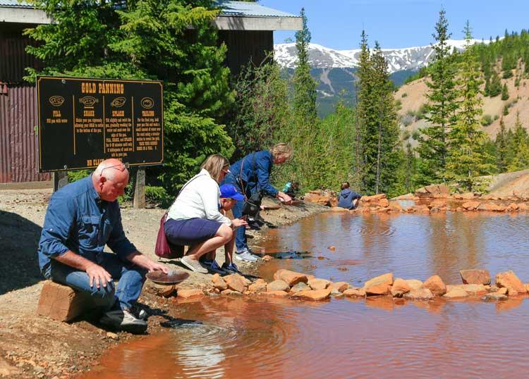 Gold panning in Breckenridge, Colorado