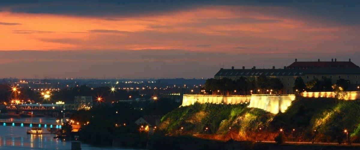 Petrovaradin Fortress at night