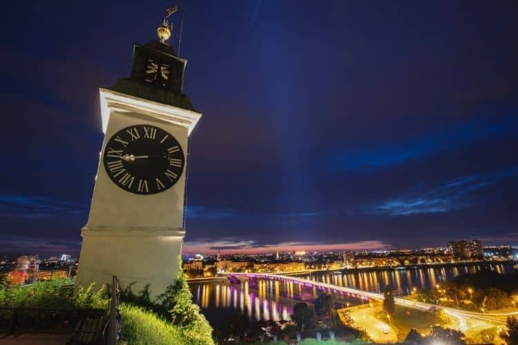 Petrovaradin Fortress clock tower