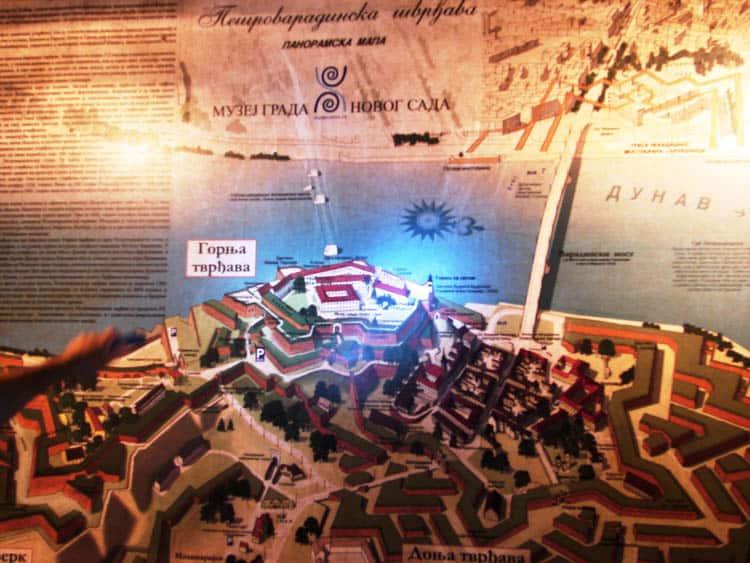 Petrovaradin Fortress map