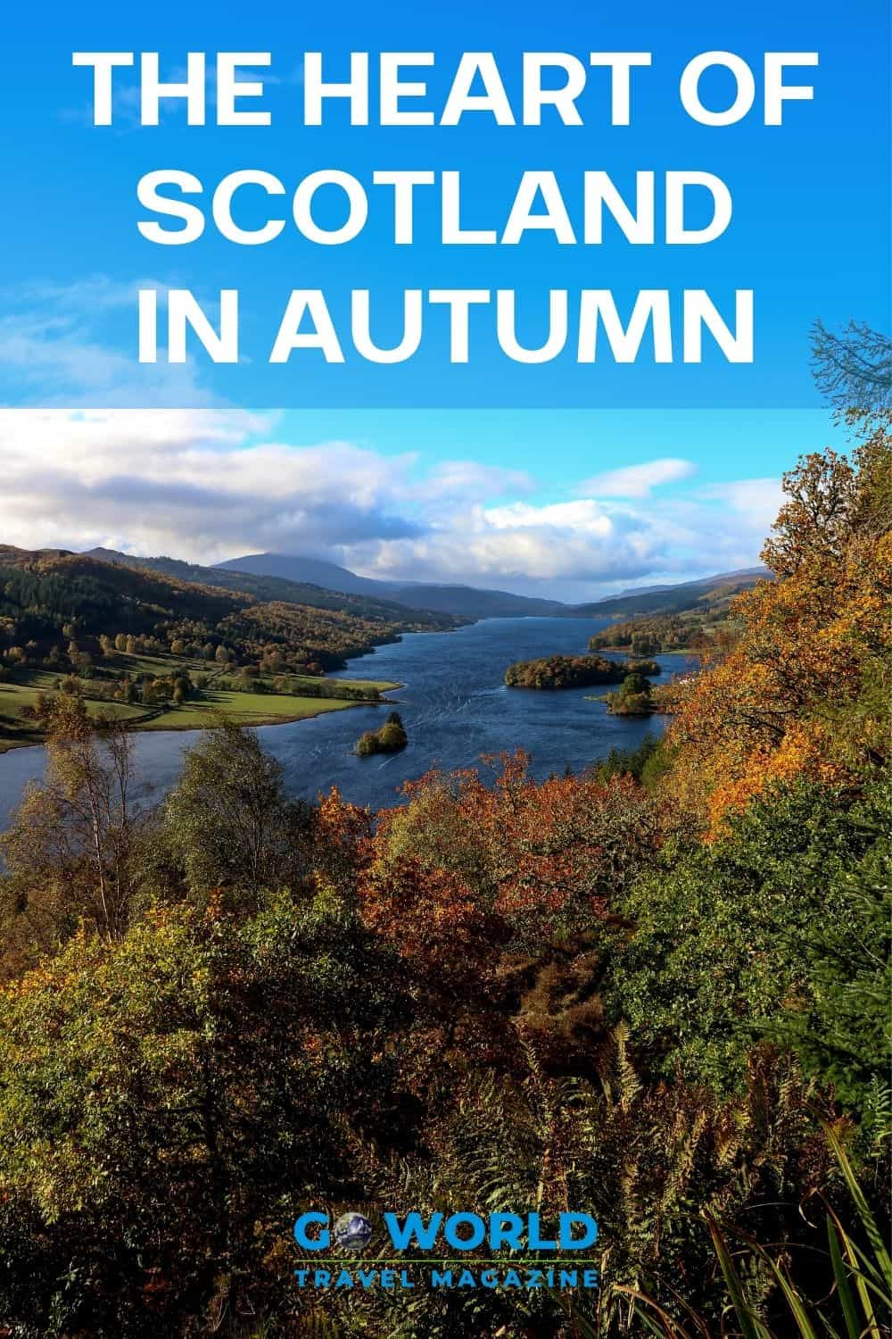 Autumn in Scotland is a beautiful time to visit. Perthsire, in the Heart of Scotland, is a great destination to enjoy Scotland's fall colors. #scotlandtravel #autumninscotland