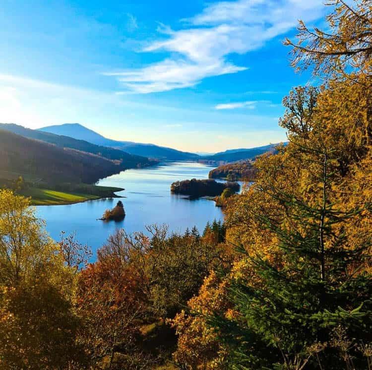 Scotland in Autumn. Queen's View