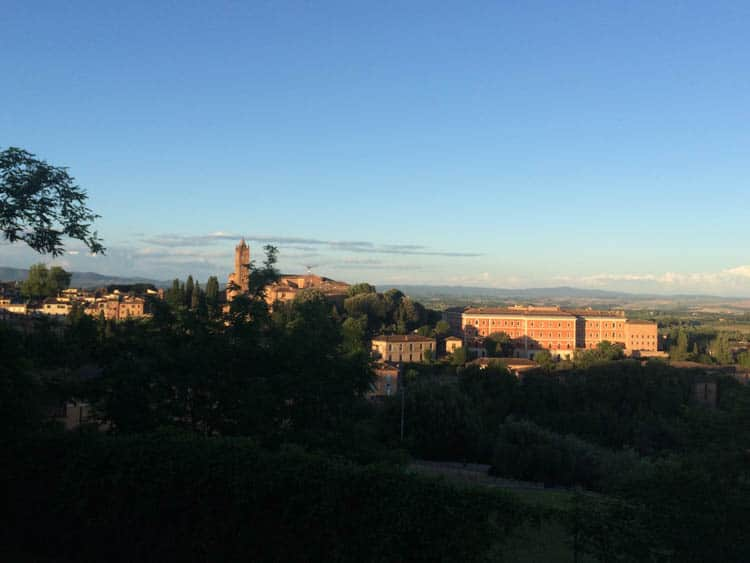 Siena Italy: View at golden hour