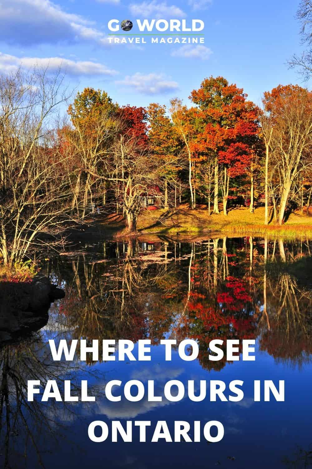 The fall colours in Ontario are spectacular and the best way to see them is by car or train. Here's a list of drives for Ontario leaf-peeping. #Ontarioinfall #fallcoloursinontario