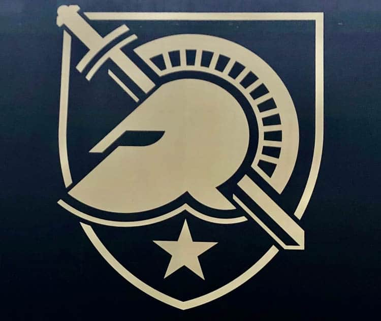 The West Point Logo - a sword and face shield