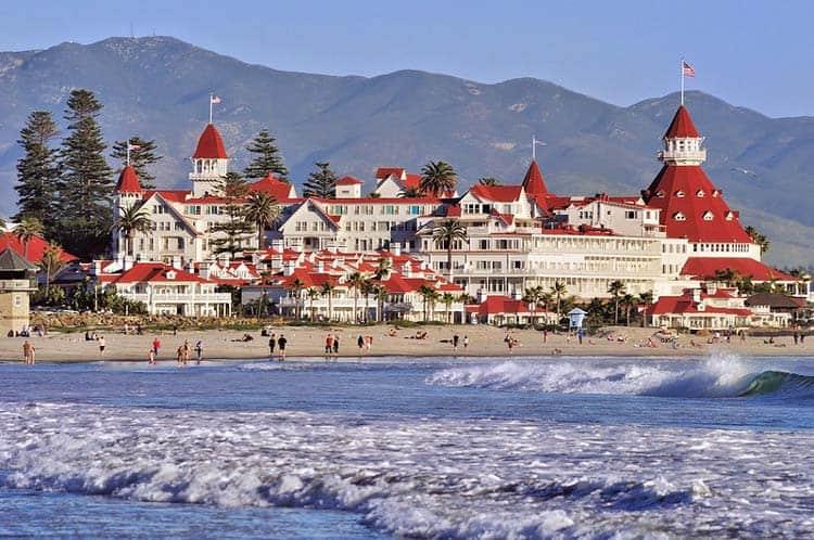 The movie Somewhere in Time was based on the historic Hotel del Coronado. Photo courtesy Hotel del Coronado