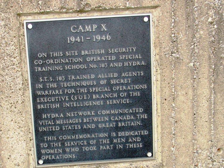Camp X Ontario plaque