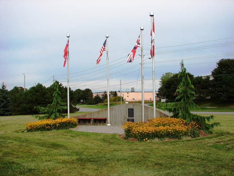 Flags at Intrepid Park Ontario