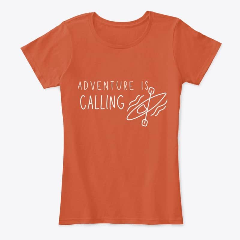 "Adventure is Calling"" Travel Tee"