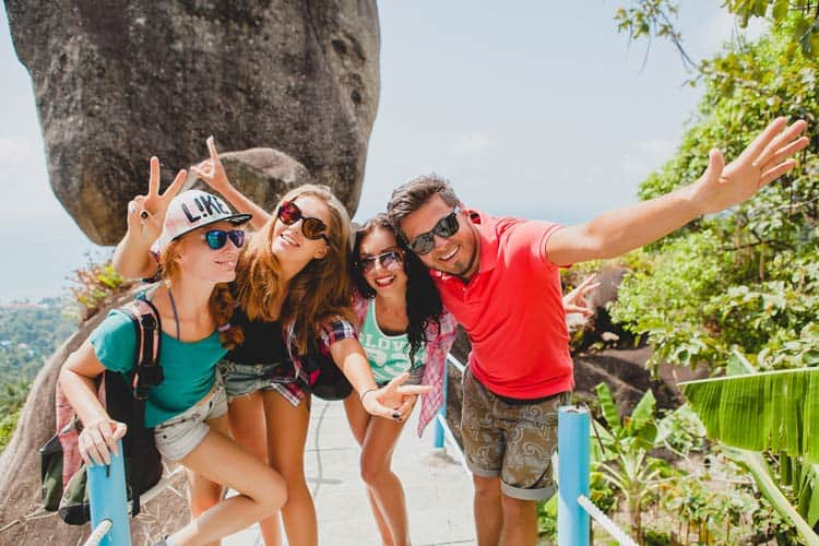 Travel with others and make friends while you work